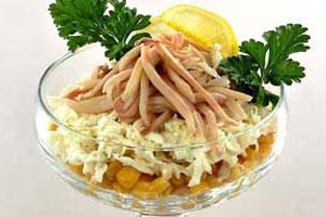 Салат-коктейль с кальмарами