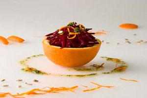 Салат свекольный с семенами подсолнечника