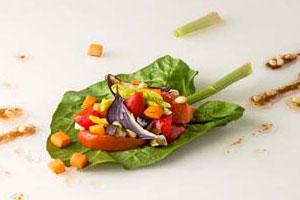 Салат из запечeнных овощей