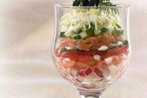 Салат-коктейль «Удачная рыбалка»