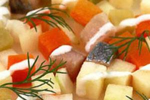 Салат с сельдью (6)