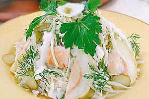 Салат балканский с рыбой