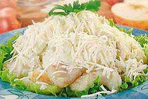 Салат рыбный с брынзой