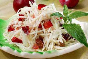 Салат из тыквы и слив