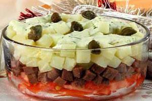 Салат мясной