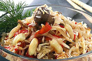 Салат из грибов с овощами