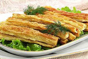 Салат из жареной спаржи