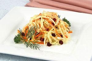 Салат с белокочанной капустой