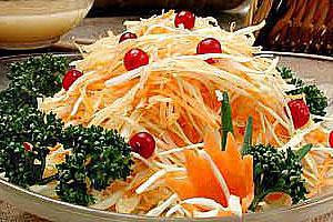 Салат из репы, капусты и моркови