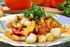 Салат фруктово-овощной