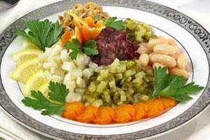 Винегрет с фасолью и грибами (2)