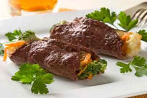 Мясо, фаршированное овощами