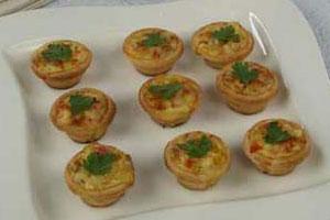 Тарталетки с сыром и беконом (2)
