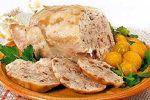 Закуска из фаршированной курицы