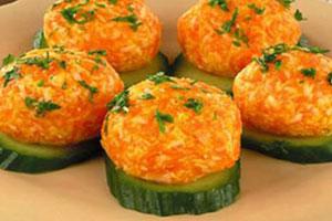 Закуска из моркови с сыром
