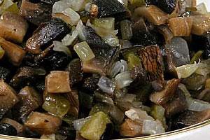 Икра грибная с морской капустой